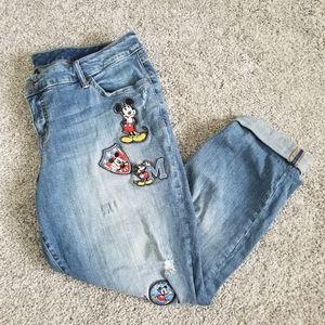 Torrid Size 18R Disney Patch Boyfriend Jean's